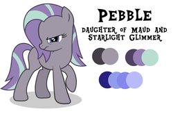Size: 6000x4000 | Tagged: safe, artist:spottedlions, oc, oc only, oc:pebble, pony, female, lesbian, next generation, original character do not steal, parent:maud pie, parent:starlight glimmer, parents:starmaud, shipping, simple background, starmaud