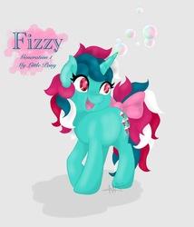 Size: 768x899   Tagged: safe, artist:m-al, fizzy, g1, bubble, cute, female, happy, shadow, solo
