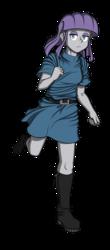 Size: 401x915 | Tagged: safe, artist:pedantczepialski, maud pie, equestria girls, alternate universe, boots, equestria girls: the parody series, female, running, shoes, simple background, transparent background, unamused