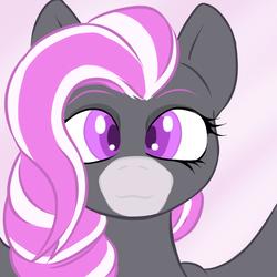 Size: 1000x1000   Tagged: safe, artist:b-i-r, oc, oc only, oc:cream pie, pegasus, pony, female, mare, pink mane, purple eyes, solo
