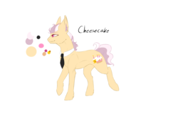 Size: 1500x1000 | Tagged: artist:fancycookiejar, oc, oc:cheesecake, oc only, offspring, parent:cheese sandwich, parent:pinkie pie, parents:cheesepie, pony, safe, solo