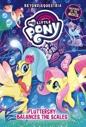 Size: 1091x1600   Tagged: safe, fluttershy, haven bay, princess skystar, salina blue, seapony (g4), my little pony: the movie, beyond equestria, my little pony logo, seaponified, seapony fluttershy, species swap