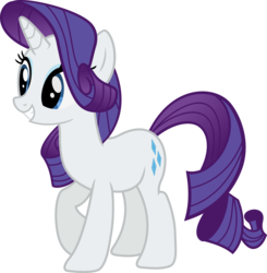 Size: 1300x1329 | Tagged: artist:charity-rose, female, mare, pony, rarity, safe, simple background, smiling, solo, transparent background, unicorn, vector