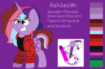 Size: 2800x1850 | Tagged: safe, artist:ashleigharts, oc, oc only, oc:ashleigh, reference sheet