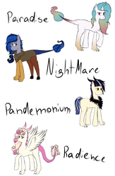 Size: 1024x1566 | Tagged: artist:mah521, discord gets all the mares, draconequus, draconequus oc, hybrid, interspecies offspring, next generation, oc, oc only, offspring, parent:discord, parent:princess cadance, parent:princess celestia, parent:princess luna, parents:discodance, parents:discolight, parents:dislestia, parents:lunacord, parent:twilight sparkle, safe, simple background, white background