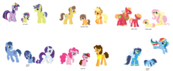 Size: 1600x657 | Tagged: safe, artist:vileotflash, applejack, big macintosh, caramel, cheese sandwich, comet tail, fluttershy, pinkie pie, rainbow dash, soarin', twilight sparkle, oc, pony, carajack, cheesepie, cometlight, family, female, fluttermac, male, offspring, parent:applejack, parent:big macintosh, parent:caramel, parent:cheese sandwich, parent:comet tail, parent:fluttershy, parent:noteworthy, parent:pinkie pie, parent:rainbow dash, parent:rarity, parent:soarin', parent:twilight sparkle, parents:carajack, parents:cheesepie, parents:cometlight, parents:fluttermac, parents:soarindash, rariworthy, shipping, soarindash, straight