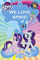 Size: 1066x1600 | Tagged: safe, edit, hundreds of users filter this tag, rarity, spike, starlight glimmer, sunset shimmer, trixie, dragon, book, book cover, female, lesbian, love rectangle, love triangle, male, my little pony logo, polyamory, shipping, sparity, sparixie, sparlight, sparlixie, spike gets all the mares, spixie, straight, trixlight sparity, we are unicorns
