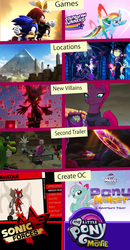 Size: 1679x3222 | Tagged: safe, artist:trungtranhaitrung, tempest shadow, oc, sea pony, my little pony: the movie, amy rose, charmy bee, comparison, crossover, espio the chameleon, gadget the wolf, game, infinite (character), pyramid, silver the hedgehog, sonic forces, sonic the hedgehog (series), vector the crocodile