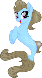 Size: 1245x2292 | Tagged: safe, artist:punzil504, beauty brass, earth pony, pony, seapony (g4), my little pony: the movie, female, mare, open mouth, seaponified, simple background, smiling, solo, species swap, transparent background