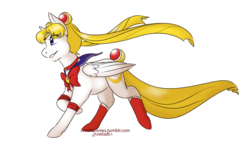Size: 1000x587 | Tagged: artist:kourabiedes, crossover, female, magical girl, pegasus, ponified, pony, safe, sailor moon, serena tsukino, simple background, solo, transparent background, tsukino usagi