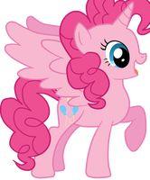 Size: 166x200   Tagged: safe, artist:mixiepie, pinkie pie, alicorn, pony, alicornified, female, mare, picture for breezies, pinkiecorn, princess, princess pinkie pie, race swap, xk-class end-of-the-world scenario