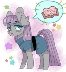 Size: 1185x1280 | Tagged: safe, artist:segen360, maud pie, earth pony, pony, book, dialogue, female, pictogram, solo, talking, text