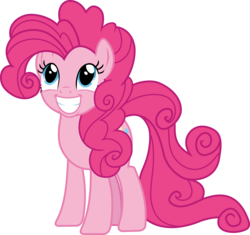 Size: 4096x3855 | Tagged: alternate hairstyle, artist:frownfactory, beautiful, curly hair, cute, diapinkes, earth pony, female, fluffy, it isn't the mane thing about you, mare, pinkie pie, pony, poofy pie, safe, simple background, solo, svg, .svg available, transparent background, vector