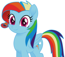 Size: 1780x1554 | Tagged: artist:peahead, cute, dashabetes, female, mare, movie accurate, my little pony: the movie, newbie dash, pegasus, pony, rainbow dash, rainbow fash, safe, simple background, solo, transparent background, vector