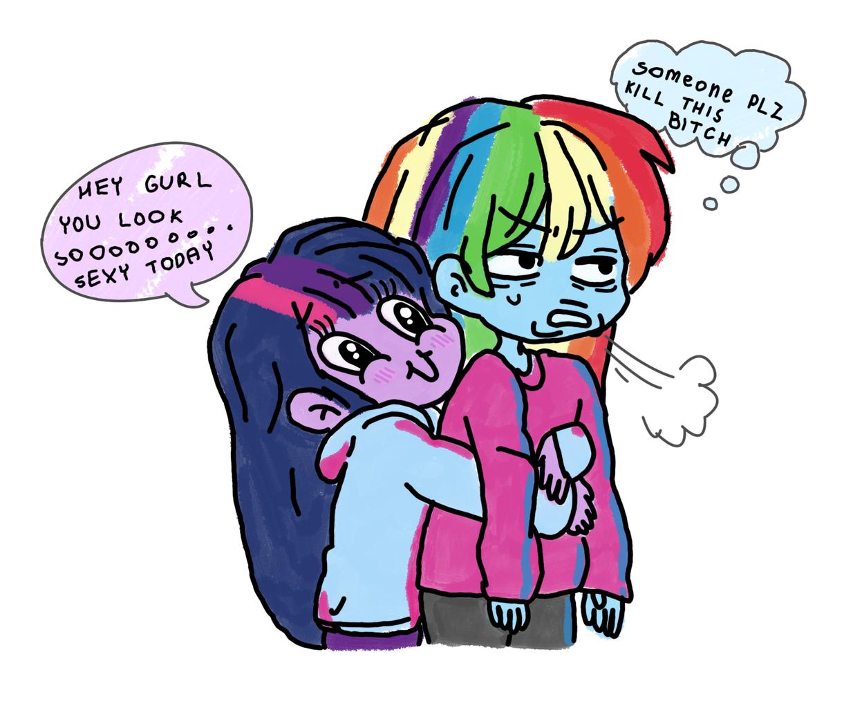 Lesbian sweater girls