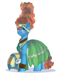 Size: 1717x2000 | Tagged: safe, artist:neonishe, meadowbrook, earth pony, pony, a health of information, female, healer's mask, mare, mask, simple background, solo, white background