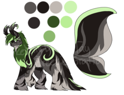 Size: 1024x791 | Tagged: artist:sketchthebluepegasus, oc, oc:ariel, oc only, original species, pony, reference sheet, safe, solo, wysp
