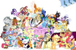 Size: 1289x856 | Tagged: a flurry of emotions, alicorn, all bottled up, alternate hairstyle, angel bunny, anger magic, applejack, applejack's parents, a royal problem, artist:dm29, ballerina, basket, big macintosh, bimbettes, bottled rage, bow hothoof, brightbutter, bright mac, camera, campfire tales, celestial advice, changedling, changeling, chipcutter, cinnamon nuts, clothes, colt, crossing the memes, cup, daring do, daring done?, daybreaker, dear darling, discord, discordant harmony, doctor fauna, dragon, dragon lord ember, earth pony, equestrian pink heart of courage, fame and misfortune, feather bangs, female, filly, flash magnus, fluttershy, fluttershy leans in, fond feather, food, forever filly, friendship journal, ginseng teabags, glowpaz, guitar, hard to say anything, heart, heart eyes, helmet, hoity toity, honest apple, hug, it isn't the mane thing about you, jalapeno red velvet omelette cupcakes, king thorax, kite, magic, male, mare, maud pie, meme, mining helmet, mini twilight, mistmane, muffin, nightmare moon, not asking for trouble, pancakes, parental glideance, pear butter, pegasus, pharynx, photo finish, piñata, pineapple, pinkie pie, pizza costume, pizza head, pony, prince rutherford, princess ember, princess flurry heart, punk, rainbow dash, rainbow dash's parents, raripunk, rarity, reformed four, rockhoof, rock solid friendship, safe, scootaloo, shipping, shopping cart, simple background, somnambula, spike, spoiler:s07e13, spoiler:s07e14, stallion, starlight glimmer, statue, stingbush seed pods, straight, strawberry, strawberry sunrise, sugar belle, sugarmac, sweetie belle, swoon song, teacup, that pony sure does love kites, that pony sure does love teacups, the meme continues, the perfect pear, the story so far of season 7, this isn't even my final form, thorax, to change a changeling, triple threat, trixie, tutu, twilarina, twilight sparkle, twilight sparkle (alicorn), unicorn, uniform, wall of tags, whammy, white background, why i'm creating a gown darling, wild fire, windyhoof, windy whistles, wingding eyes, wonderbolts uniform