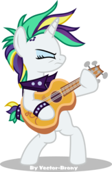 Size: 3146x4839   Tagged: safe, artist:vector-brony, rarity, pony, it isn't the mane thing about you, absurd resolution, alternate hairstyle, bipedal, crossing the memes, eyes closed, female, guitar, guitarity, mare, musical instrument, punk, raripunk, simple background, solo, transparent background, vector