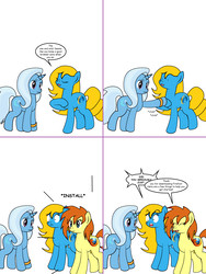 Size: 1204x1604 | Tagged: artist:dekomaru, ask, browser ponies, internet explorer, oc, oc:firefox, oc:internet explorer, pony, safe, trixie, tumblr, tumblr:ask twixie