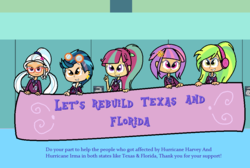 Size: 1018x684 | Tagged: artist:obeliskgirljohanny, equestria girls, hurricane, hurricane harvey, hurricane irma, indigo zap, lemon zest, safe, shadow five, sour sweet, sugarcoat, sunny flare