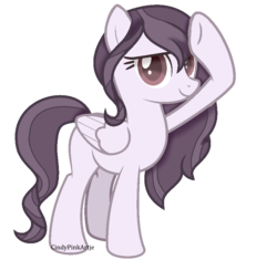 Size: 886x832 | Tagged: artist:cindypinkartje, female, mare, oc, oc only, pegasus, pony, safe, salute, simple background, solo, transparent background, unnamed oc
