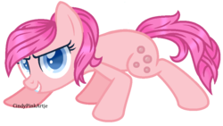 Size: 886x498 | Tagged: artist:cindypinkartje, earth pony, female, mare, oc, oc only, pony, safe, simple background, solo, transparent background, unnamed oc