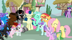 Size: 900x506 | Tagged: alicorn, artist:arcgaming91, bon bon, coconut cream, diamond tiara, fluttershy, gummy, kevin (changeling), king sombra, liza doolots, lyra heartstrings, oc, oc:smash gamer, petunia, safe, sunset shimmer, sweetie drops, toola roola, tootsie flute, trixie, twilight sparkle, twilight sparkle (alicorn)