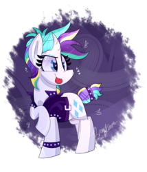 Size: 815x950 | Tagged: safe, artist:lynchristina, rarity, pony, unicorn, it isn't the mane thing about you, alternate hairstyle, curved horn, cute, punk, raribetes, raripunk, raspberry, simple background, solo, tail wrap, tongue out, transparent background