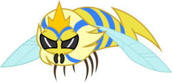 Size: 2811x1336 | Tagged: safe, artist:frownfactory, bee, flash bee, insect, a health of information, .svg available, angry, animal, crown, female, jewelry, queen, queen bee, regalia, simple background, solo, svg, transparent background, vector
