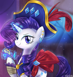 Size: 1099x1159 | Tagged: safe, artist:tcn1205, rarity, unicorn, my little pony: the movie, female, gem, hat, jewelry, mare, pirate, pirate hat, pirate rarity, ship, solo