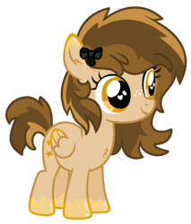 Size: 1111x1303 | Tagged: safe, artist:monkfishyadopts, oc, oc only, oc:caramel stars, pegasus, pony, adoptable, base used, bow, chest fluff, ear fluff, female, filly, freckles, simple background, solo, transparent background