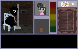 Size: 640x400 | Tagged: safe, artist:herooftime1000, octavia melody, pony, octavia in the underworld's cello, cello, dungeon, musical instrument, pixel art, prison, prisoner