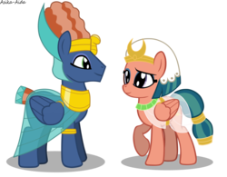Size: 7578x5921 | Tagged: absurd res, artist:asika-aida, clothes, daring done?, female, hisambula, male, pony, prince hisan, raised hoof, safe, shipping, simple background, somnambula, straight, transparent background