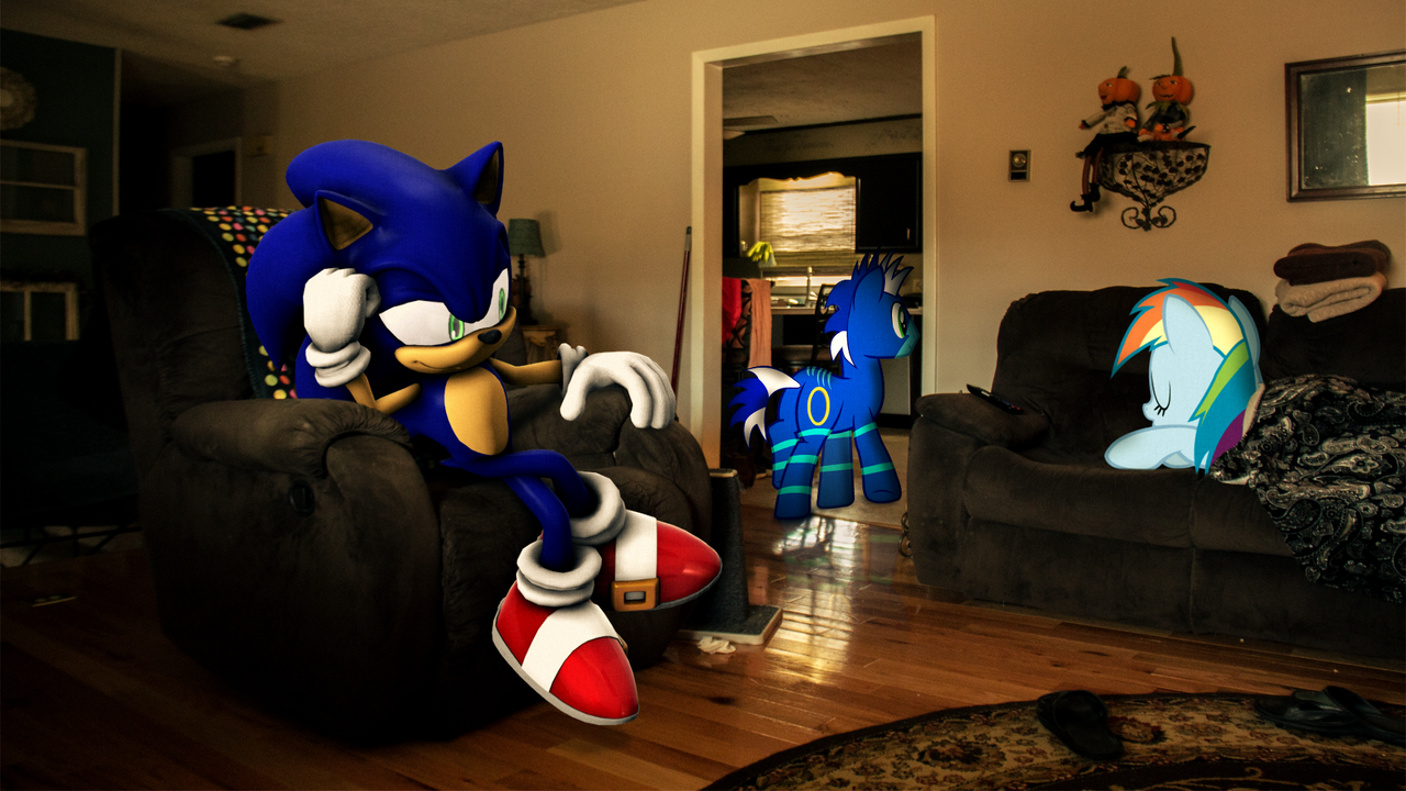 1528859 3d Artist Soniccrew128 Crossover Irl Oc Photo Ponies In Real Life Rainbow Dash Safe Sonic The Hedgehog Sonic The Hedgehog Series Source Filmmaker Derpibooru