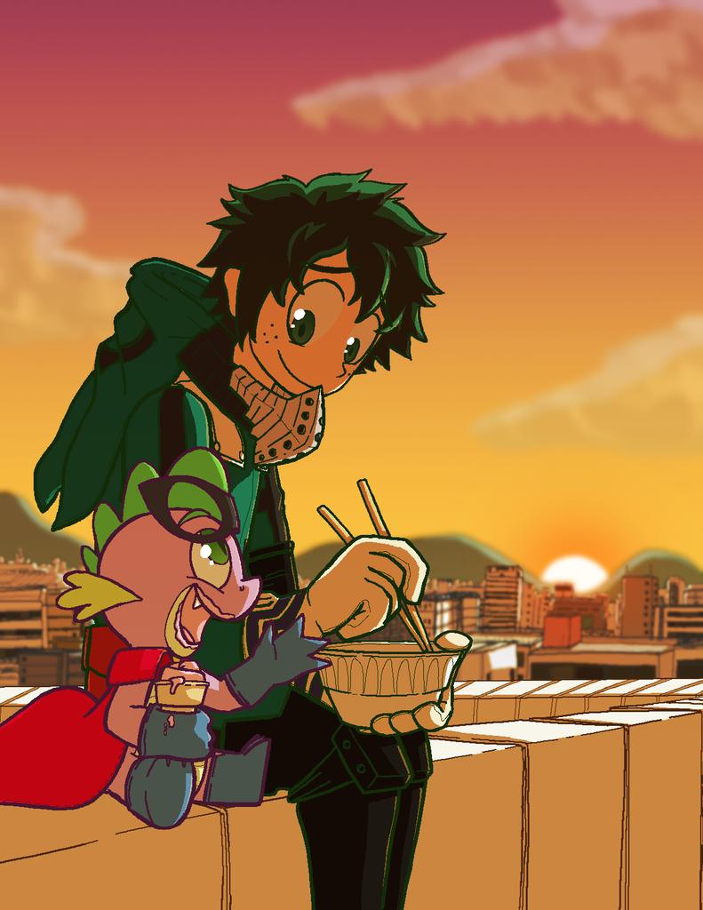 1528992 Anime Artist Zanefir Dran Cape City Clothes