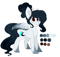 Size: 2100x2000 | Tagged: safe, artist:beashay, oc, oc only, oc:cyan crystal, pegasus, pony, colored wings, female, high res, mare, multicolored wings, reference sheet, simple background, solo, transparent background