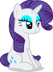 Size: 7000x9630 | Tagged: safe, artist:luckreza8, rarity, pony, unicorn, campfire tales, .svg available, absurd resolution, eyeshadow, female, lidded eyes, makeup, mare, simple background, sitting, smiling, solo, transparent background, vector