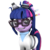 Size: 1080x1080 | Tagged: safe, artist:dazzion, sci-twi, twilight sparkle, pony, unicorn, eqg summertime shorts, mad twience, 3d, clothes, cute, equestria girls ponified, goggles, lab coat, ponified, simple background, transparent background, twiabetes