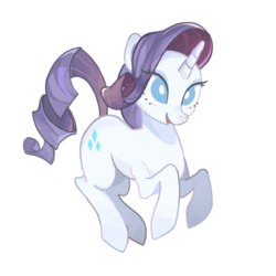 Size: 800x800 | Tagged: safe, artist:jus+ice, rarity, pony, unicorn, eyeshadow, female, makeup, mare, open mouth, simple background, smiling, solo, white background