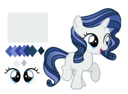 Size: 1111x817   Tagged: safe, artist:spectrumnightyt, oc, oc only, oc:diamond design, pony, unicorn, female, filly, offspring, parent:fancypants, parent:rarity, parents:raripants, reference sheet, simple background, solo, transparent background