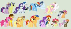 Size: 2488x1044 | Tagged: safe, artist:pink-playdoh, apple bloom, applejack, bulk biceps, button mash, caramel, cheese sandwich, comet tail, fancypants, flash sentry, fluttershy, pinkie pie, pipsqueak, rainbow dash, rarity, rumble, scootaloo, soarin', starlight glimmer, sunburst, sunset shimmer, sweetie belle, twilight sparkle, pony, carajack, cheesepie, cometlight, female, flashimmer, flutterbulk, male, pipbloom, raripants, rumbloo, shipping, soarindash, starburst, straight, sweetiemash