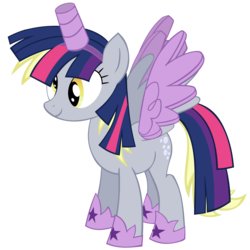 Size: 5760x5760 | Tagged: safe, artist:greenmachine987, derpy hooves, pony, scare master, absurd resolution, alicorn costume, clothes, costume, fake horn, fake wings, nightmare night costume, simple background, solo, toilet paper roll, toilet paper roll horn, transparent background, twilight muffins, twilight sparkle costume, vector, wig