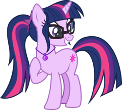 Size: 3062x2752 | Tagged: safe, artist:frownfactory, sci-twi, twilight sparkle, pony, unicorn, .svg available, alternate cutie mark, equestria girls ponified, female, geode of telekinesis, glasses, magical geodes, mare, ponified, simple background, solo, svg, transparent background, unicorn twilight, vector