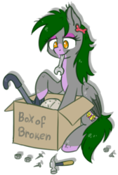 Size: 713x1062 | Tagged: safe, artist:kyaokay, oc, oc only, pegasus, pony, box, clock, crowbar, fixing, hammer, happy, mouth hold, nail, simple background, sitting, solo, transparent background, wrench