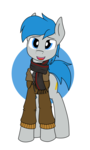 Size: 1536x2560 | Tagged: artist:xphil1998, clothes, earth pony, jacket, oc, oc only, oc:trigger hooves, pony, safe, scarf, solo