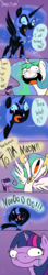 Size: 500x2814 | Tagged: :>, accent, alicorn, artist:emositecc, bipedal, comic, crossover, crying, derp, dialogue, faic, fangs, female, frown, glare, hoof shoes, :i, jewelry, majestic as fuck, mare, meme, nightmare moon, no pupils, :o, open mouth, pointing, pony, princess celestia, princess twilight sparkle (episode), puffy cheeks, purple background, regalia, safe, simple background, smiling, sonic the hedgehog (series), speech bubble, spread wings, :t, teary eyes, tongue out, to the moon, twilight sparkle, ugandan knuckles, unicorn, wat, watching, wide eyes, wings