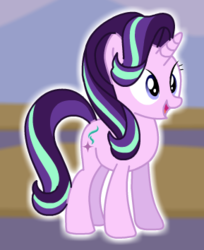 Size: 289x354 | Tagged: eyes open, happy, open mouth, safe, solo, starlight glimmer, starsue, unicorn