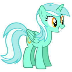 Size: 1280x1280 | Tagged: alicorn, alicornified, artist:marcusvanngriffin, grin, lyracorn, lyra heartstrings, pony, race swap, safe, simple background, smiling, solo, transparent background, vector