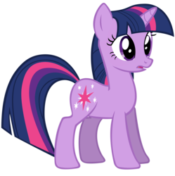 Size: 2876x2892 | Tagged: safe, artist:andoanimalia, twilight sparkle, pony, unicorn, friendship is magic, female, mare, simple background, solo, transparent background, unicorn twilight, vector